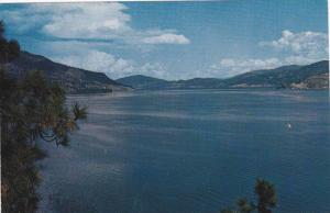 Okanagan Lake, British Columbia in all its beauty, Canada, 40-60s