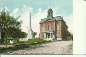 Bath, Maine, Court House and Soldiers Monument
