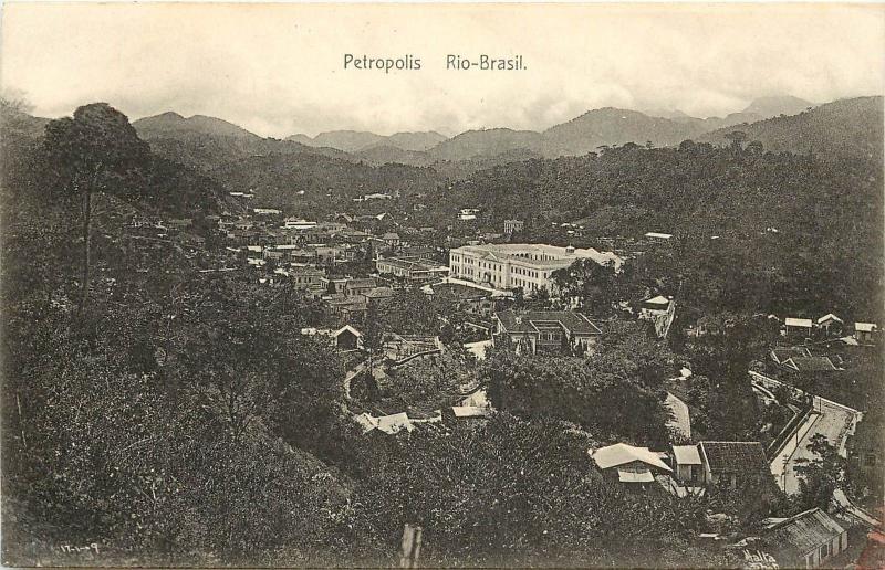 RPPC Postcard Petropolis Rio Brasil Brazil Rio De Janeiro c1913