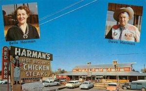HARMAN'S RED BARN RESTAURANT Tempe-Mesa, AZ Roadside c1950s Vintage Postcard