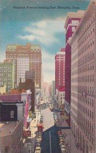Tennessee Memphis Madison Avenue Looking East 1954