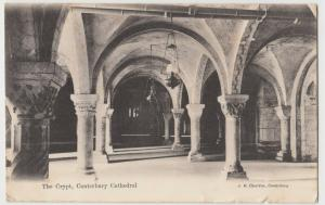 Kent; The Crypt, Canterbury Cathedral PPC By JG Charlton, To L Simmons, Watford