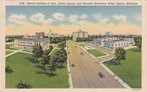 Michigan Detroit Institute Of Arts Public Library & Wardell Apartment Hotel C...