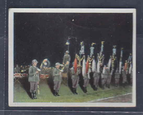 GERMANY TOBACCO CARD WWI 6x5 cms. PARADE FLAGS AAD5146
