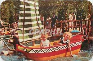 Modern Postcard The canoes of Chad Mer de Sable Ermenonville Children Bouc