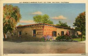 CA - San Diego, Old Town, Ramona's Marriage Place