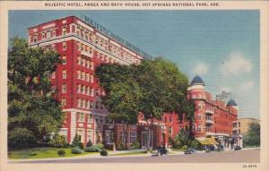Majestic Hotel Annex And Bath House Hot Springs National Park Arkansas 1938