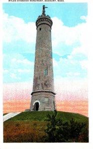 Massachusetts Duxbury Myles Standish Monument