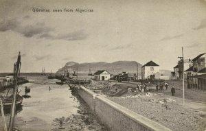 Gibraltar, seen from Algeciras (1910s) A. Benzaquen Postcard