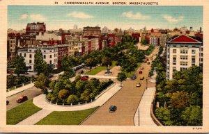 Massachusetts Boston Commonwealth Avenue 1950
