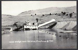 Helena Montana Gold Dredge 1940s Mining Real Photo Postcard RPPC Cecil Nixon
