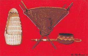 Californian Indians Hupa baby cradle , 1958