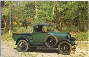 Classic Truck Postcard 1928 FORD Model A Roadster Pickup  - Chrome