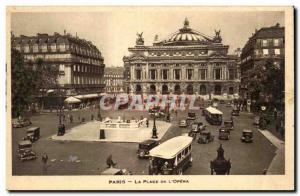 Paris Old Postcard Place of & # 39opera