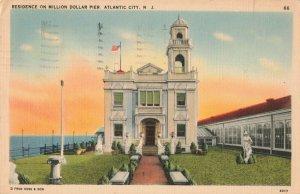 C.1941 Residence on Million Dollar Pier, Atlantic City, N.J. Postcard ~ Kapetz