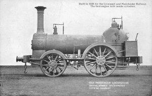 Liverpool & Manchester Railway Passenger Locomotive Train L & NW Postcard c1910s