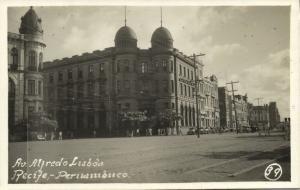 brazil, RECIFE PERNAMBUCO, Av. Alfredo Lisboa (1940s) Real Photo