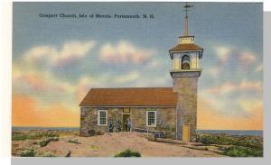 Portsmouth, New Hampshire/NH Postcard, Gosport Church/Shoals