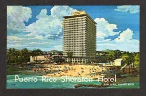 PR Sheraton Hotel SAN JUAN PUERTO RICO Postcard PC