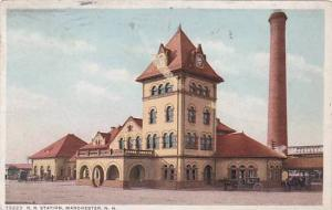 Exterior, R.R. Station, Manchester,New Hampshire,PU-1913