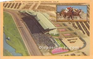 Race Track, Hollywood Park Inglewood, California, CA, USA Unused