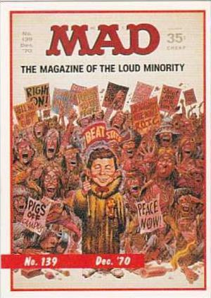 Lime Rock Trade Card Mad Magazine Cover Issue No 139 Dec 1970