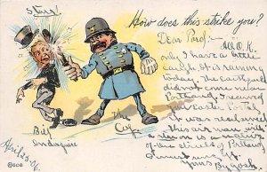 Police Post Card Police Comic 1906