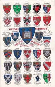 England Oxford Universsity Arms Of The Colleges Of Oxford