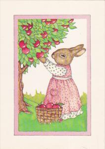 AS: Apple Picking by Susan Whited LaBelle, Rabbit wearing dress, 1984