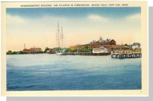 Woods Hole, Massachusetts/Mass/MA Postcard, Oceanographic Bldg, Cape Cod