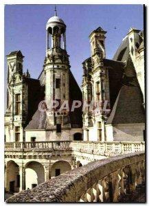 Modern Postcard Chateau de Chambord Tower West called Dungeon Tour Dieudonne