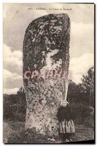 Old Postcard Dolmen Menhir Carnac The giant of Kerderff Children Folklore
