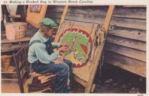 Making a Hooked Rug , North Carolina, 1930-40s