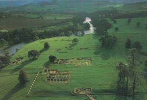 Chesters Fort Roman Aerial North Tyne Military Grounds Northampton Rare Postcard