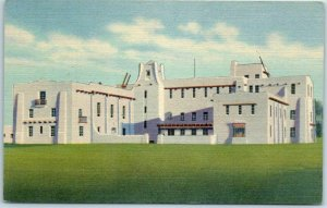 Las Cruces, New Mexico Postcard DONA ANA COUNTY COURT HOUSE Curteich Linen