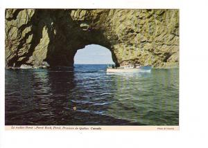 Boat at Archway, Perce Rock, Quebec, Photo Al Cassidy