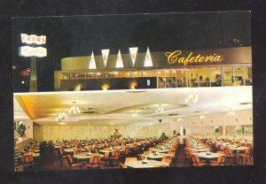 PASADENA CALIFORNIA ROUTE 66 CROWN RESTAURANT ADVERTISING POSTCARD INTERIOR