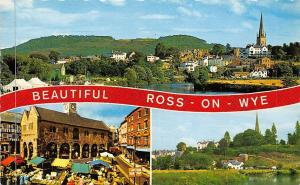Beautiful Ross on Wye, Market Place River Panoramic view