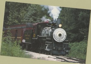 Texas State Railroad's Locomotive #201 Steam Train Postcard
