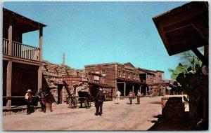 Vintage OLD TUCSON Arizona Postcard Old West Town Movie Set Street Scene 1970