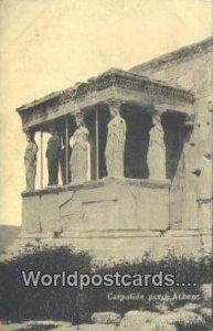 Caryatide Porch Athens Greece Unused