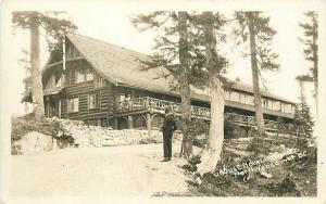 Canada, Vancouver, B.C., RPPC, Grouse Mountain Chalet