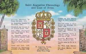 Florida Saint Augustine Saint Augustine Choronology And Coat Of Arms Albertype