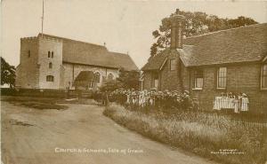 Church Schools Isle of Grain C-1910 Kent UK RPPC real photo postcard 6768
