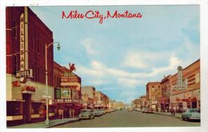 Montana  Miles City   Main St., Range Riders Bar-Cafe, Howard Hotel,