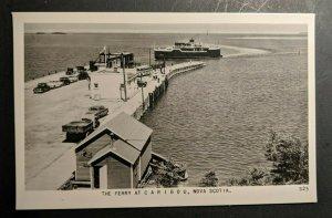 Ungebraucht Vintage die Ferry At Caribou Nova Scotia Kanada Echt Foto Postkarte