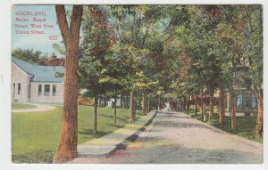 P2038 1911 postcard beach street west from union street rockland maine