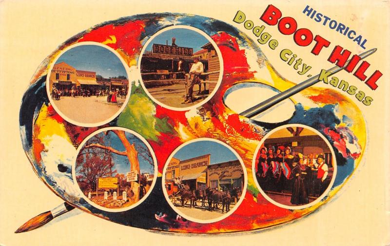 Dodge City Palette Series~Ragtime Piano Player~Old Time Outlaws~Boot Hill 1964