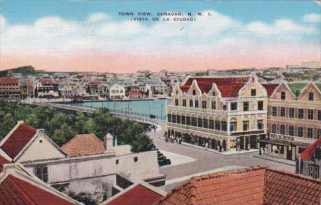 Curacao Town Vista Vista de la Ciudad 1941