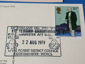 Postcard, 1979 Sir Rowland Hill KCB FIRST DAY OF ISSUE 22/8/79 BQ9